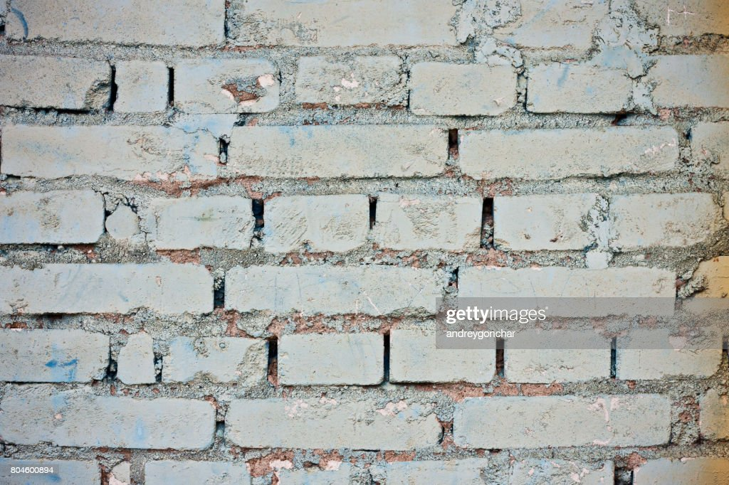 White Brick Wall Rustic Background Texture Stock Photo
