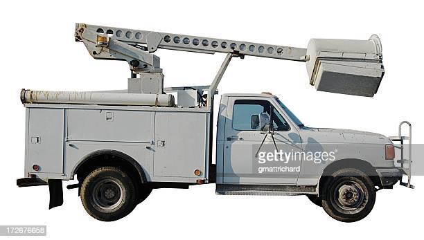 White Bucket Truck