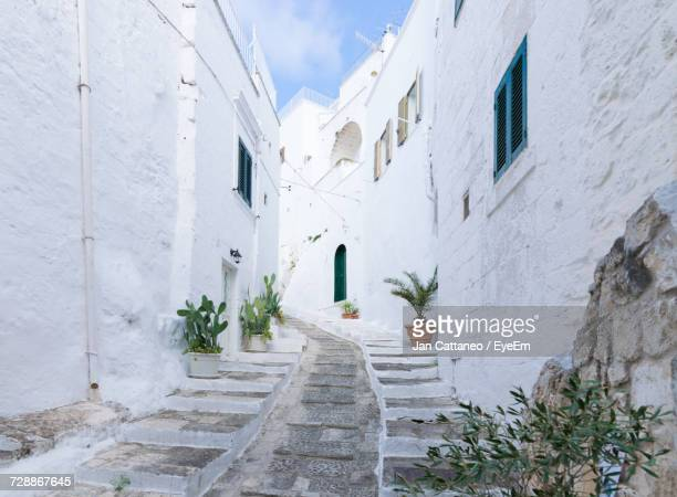 white built structure - ostuni stock photos and pictures