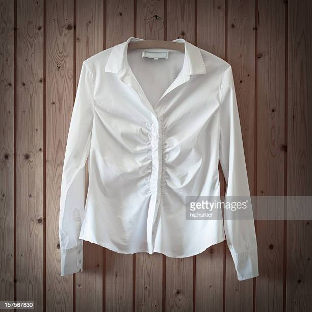 white business blouse - blouse stockfoto's en -beelden