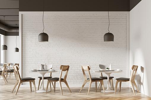 White cafe interior 940528778