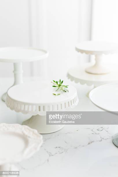 White Cake Stand Collection
