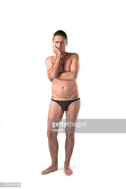 semi nue homme Caucasien blanc