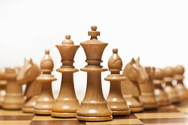 White Chess Set On Board Wall Art