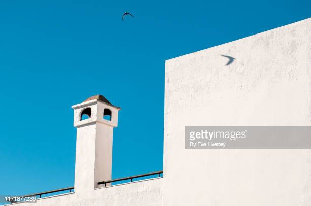 white chimney & swallow - 南ヨーロッパ ストックフォトと画像