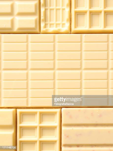 White chocolate bars background