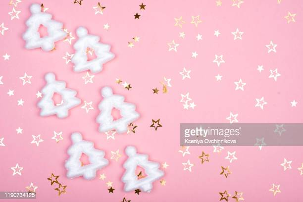 white christmas snowflakes decoration on pink background christmas picture