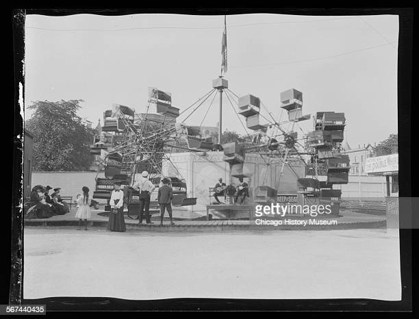 White City amusement park, Chicago, Illinois, 1905 or 1906.