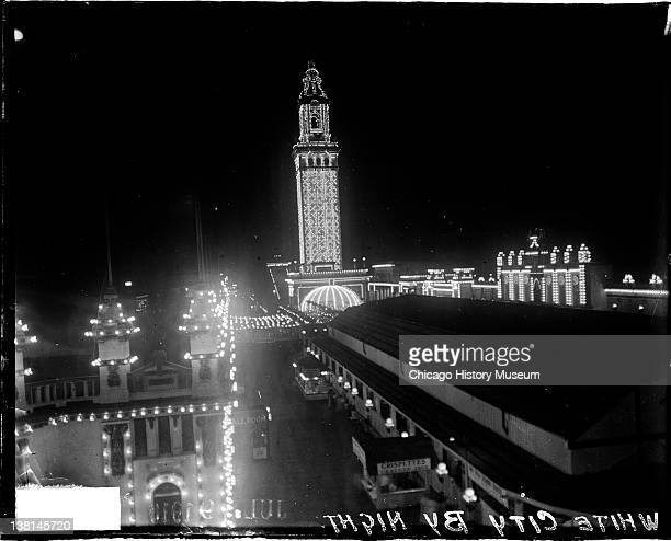 White City at night, located at 63rd Street and King Drive, Chicago, Illinois, July 9, 1916.