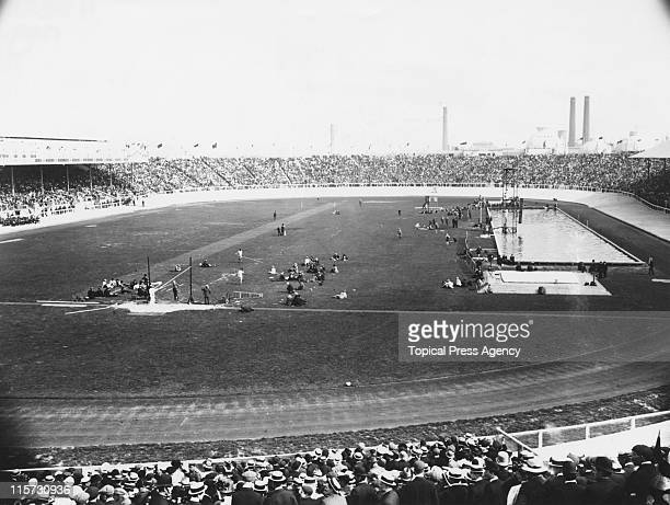 White City Stadium in London during the 1908 Summer Olympics