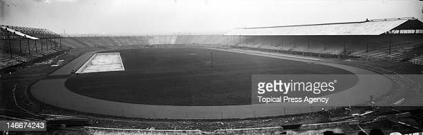 White City Stadium under construction in Shepherds Bush west London 1908 Opened in April 1908 the stadium was the venue for the 1908 FrancoBritish...