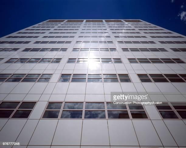 White clad office block London United Kingdom