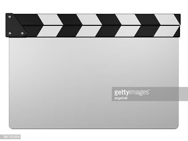 White clapperboard
