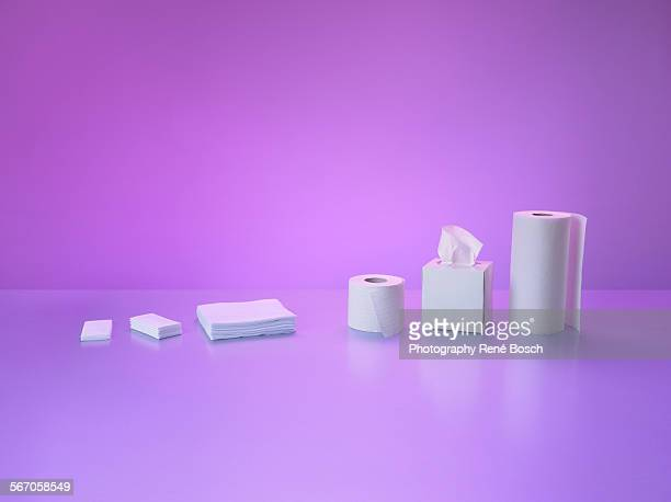 White cleaning tissues