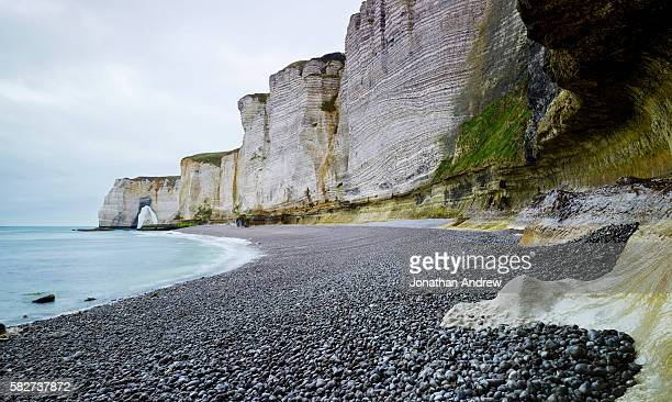 White Cliffs and Rocky Beach in Etretat, France