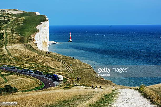 White cliffs and South Downs at Beachy Head