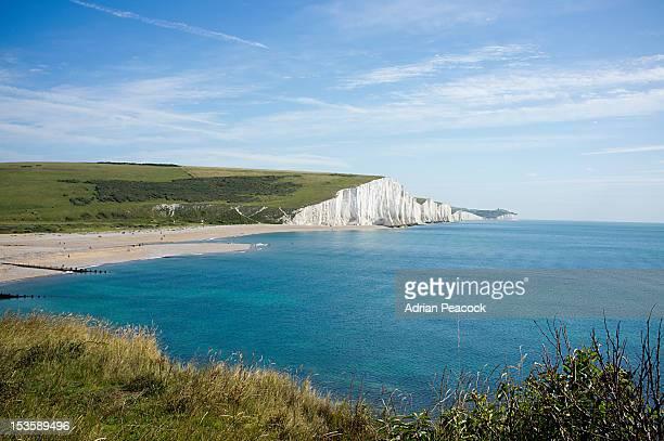 White cliffs, English channel