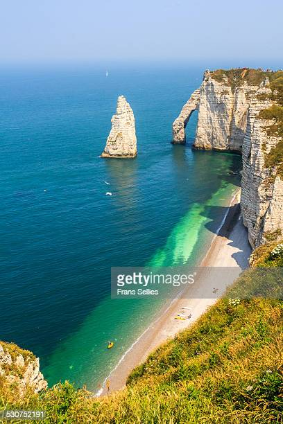 White cliffs, natural bridge and needle, Etretat