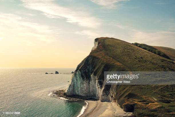 white cliffs of dorset - landscape stock pictures, royalty-free photos & images