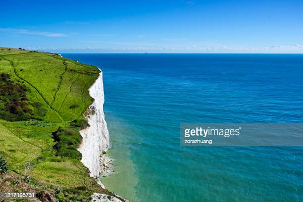 white cliffs of dover scenics, england - sunlight stock pictures, royalty-free photos & images