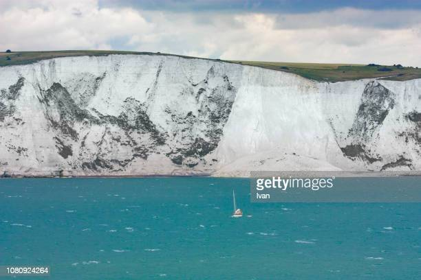 white cliffs of dover strait - dover england stock pictures, royalty-free photos & images