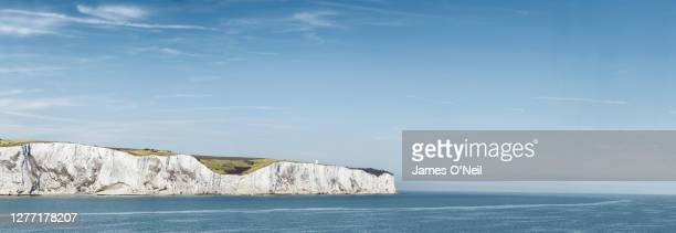 white cliffs of dover, u.k. - north sea stock pictures, royalty-free photos & images