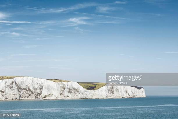 white cliffs of dover, u.k. - cliff stock pictures, royalty-free photos & images