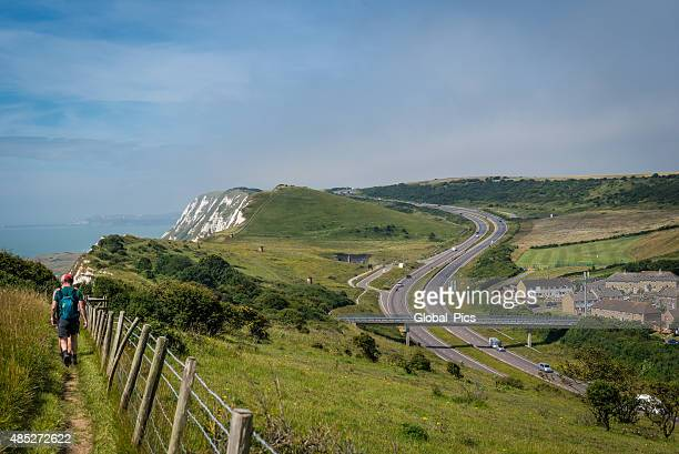 white cliffs of dover, uk - dover england stock pictures, royalty-free photos & images