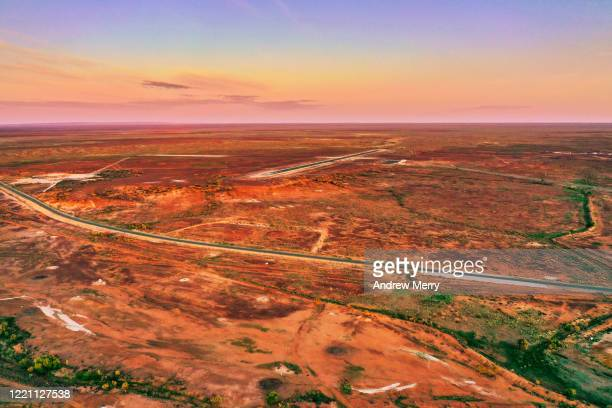 white cliffs, opal mining town, australia, aerial photography - new south wales stock pictures, royalty-free photos & images