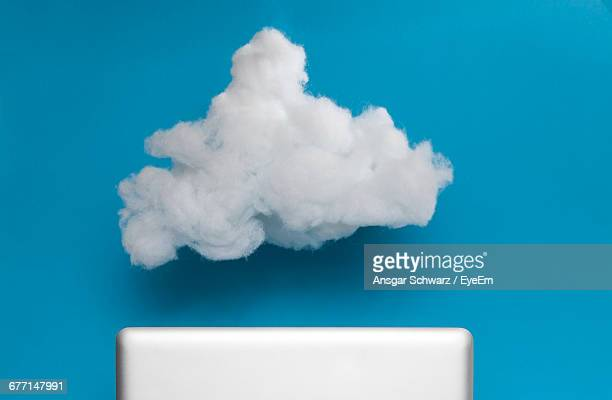 White Cloud Against Blue Background
