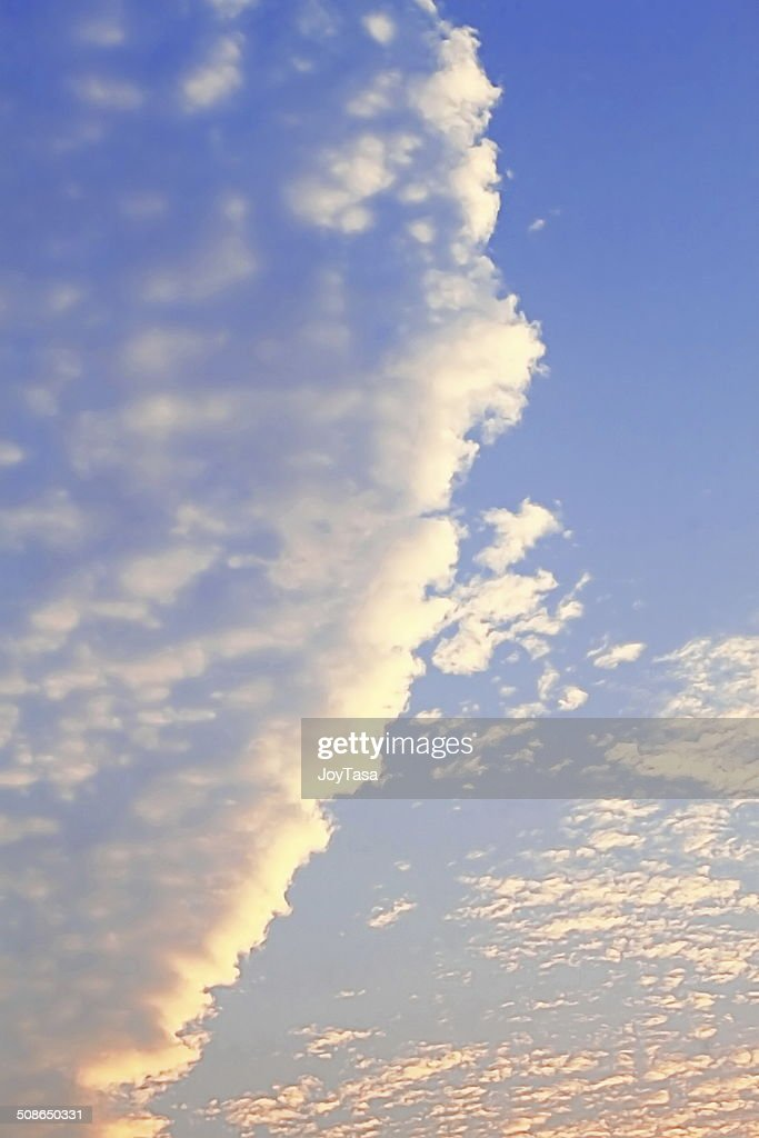 White cloud and blue sky : Stock Photo