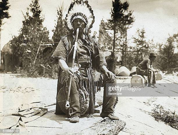 White Cloud Chief of the Iroquois smoking a pipe Undated photograph