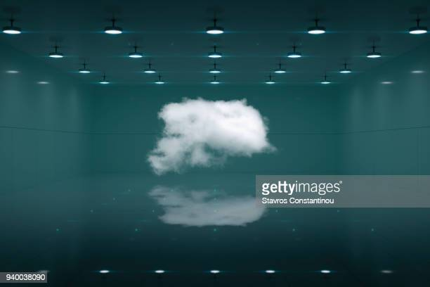 White cloud in a secure room