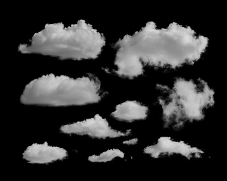 white clouds on a black background 858275886