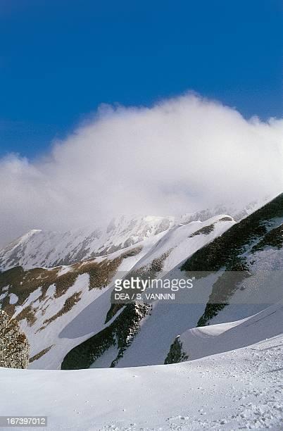 White clouds on Mount Terminillo Lazio region Italy