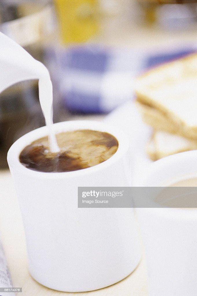 White coffee : Stock Photo