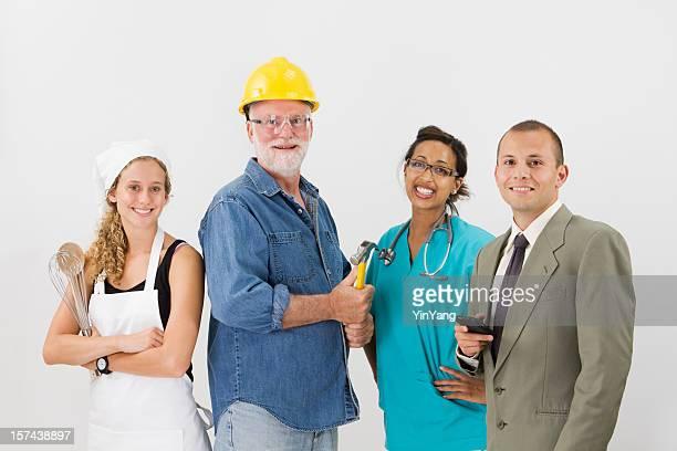 Col blanc et Professions manuelles d'emplois, de savoir-faire, activités et de l'emploi