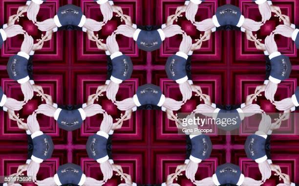 white collar hands kaleidoscope. - kaleidoscope stock photos and pictures