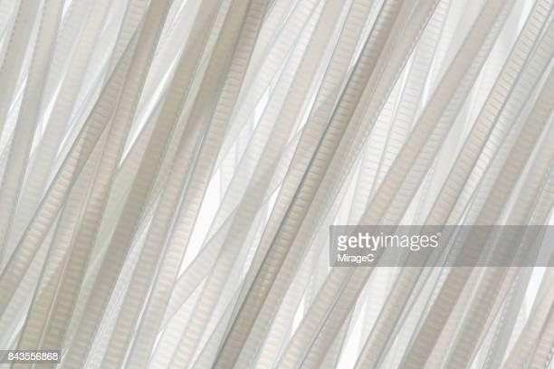 white colored plastic stripes - nylon stock-fotos und bilder