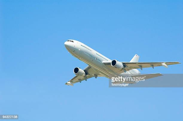 White commercial aircraft