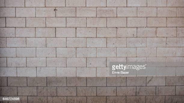 White concrete block wall