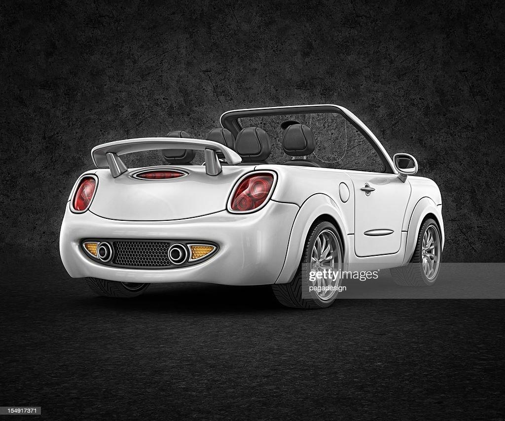 white convertible : Bildbanksbilder