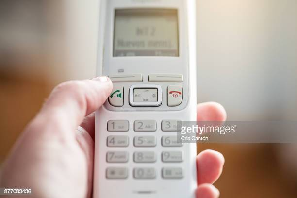 White cordless telephone
