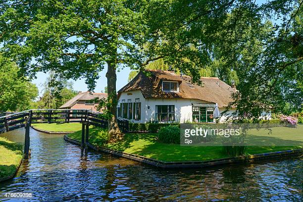 White Cottage in the village of Giethoorn in The Netherlands