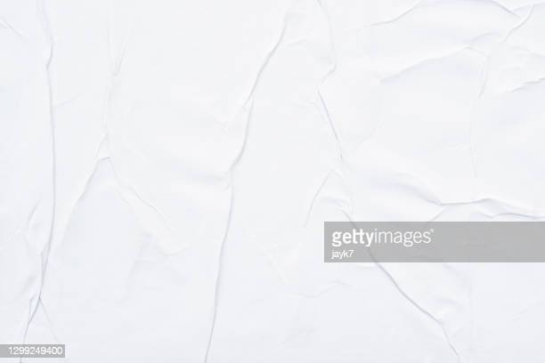 white crumpled paper - paper stock pictures, royalty-free photos & images