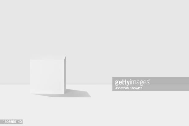 white cube - white stock pictures, royalty-free photos & images