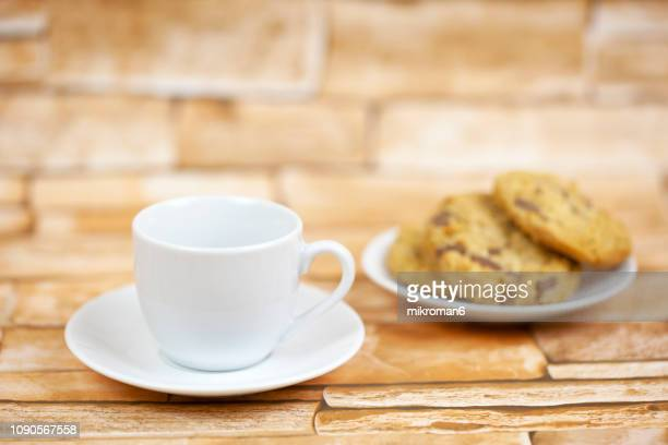 White Cup with Biscuits