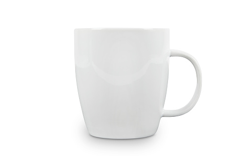 White Cup with space for logo - contains clipping paths. 184997054