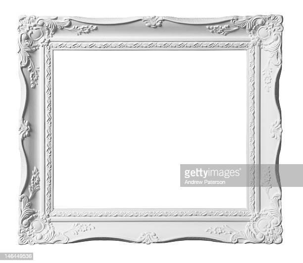 White decorative picture frame