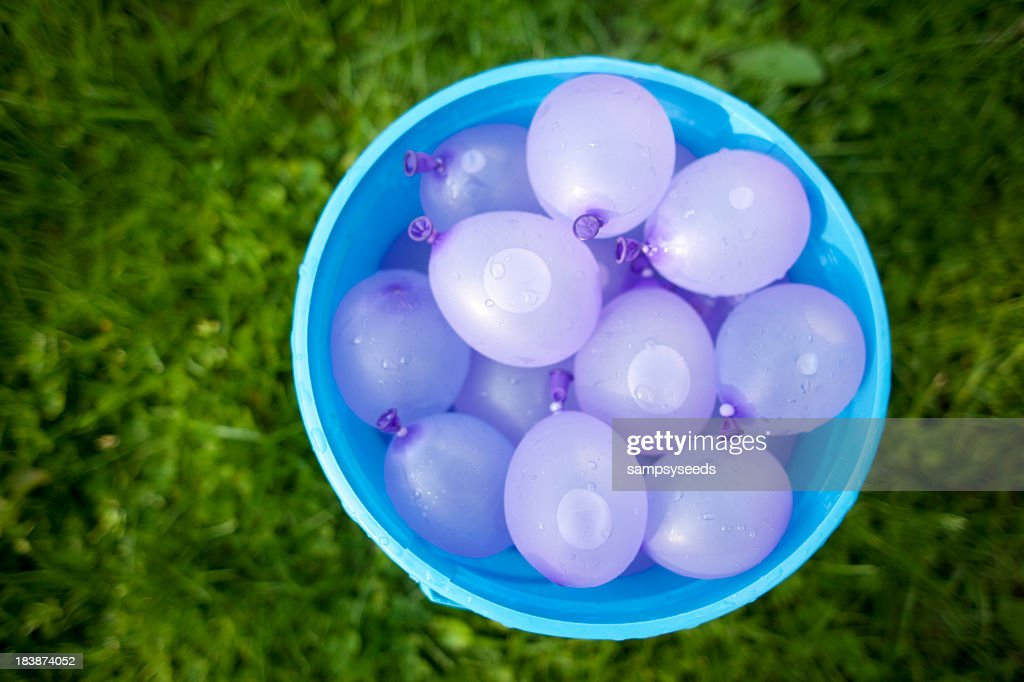 White delicate soft water balloons : Stock Photo
